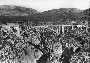 BR10323 Grand Canon du Verdon Pont de Artuby bridge    france