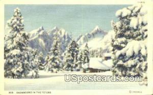 Tetons, WY Postcard       ;      Tetons, Wyoming Post Card