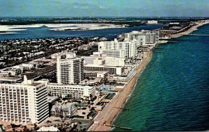Florida Miami Beach Aerial View Bal Harbour Section Looking North