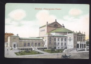 MUNCHEN GERMANY PRINZREGENTEN THEATER GERMAN ANTIQUE VINTAGE POSTCARD