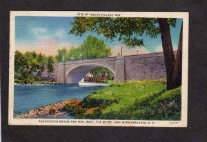 NH Aquedoctan Bridge Mail Boat Weirs Lake Winnipesaukee New Hampshire Postcard