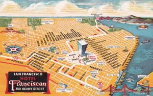 California San Francisco Hotel Franciscan With Map