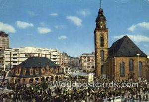 Hauptwache Germany, Deutschland Postcard Frankfurt am Main Hauptwache Frankfu...