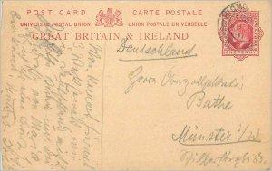 Entier Postal Stationery 1p 1911 for Munster