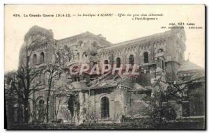 Old Postcard The Great War Basilica D & # 39Albert Effects Of Big Obus German...