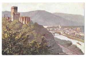 Castle Burg Lahneck Tuck Rheinburgen Oilette Series Postcard