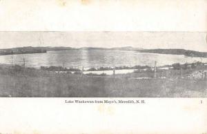 Meredith New Hampshire Lake Waukewan From Mayos Antique Postcard K88658