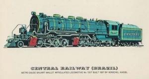 Britannia Class 7P Eastern Railway Region Train Express Pacific Vintage Postcard