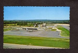 ME Municipal International Airport Portland Maine Postcard Airplanes Planes
