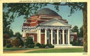 Women's College, Duke Univ in Durham, North Carolina