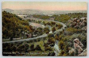 Ablemans Wisconsin~Birdseye Narrows~Horseshoe Bend Railroad Tracks~Rocks~c1910