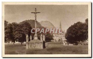 Old Postcard Lourdes Breton Calvary And Esplanade