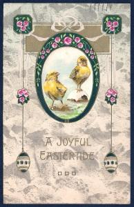 Joyful Eastertide Chicks Flowers & Eggs Used c1908