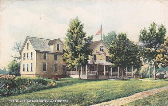LAKE ONTARIO, New York, 1900-1910s; Island Cottage Hotel
