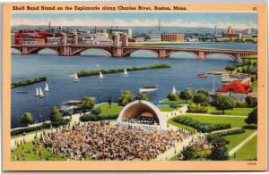 Shell Band Stand on theEsplanade along Charles River, Boston, Mass