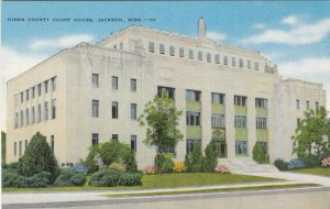 JACKSON , Mississippi, 30-40s ; Hinds County Court House, Jail on top floor