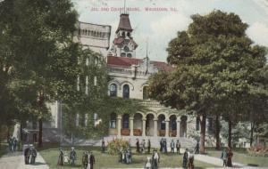 WAUKEGAN, Illinois, PU-1909; Jail and Court House