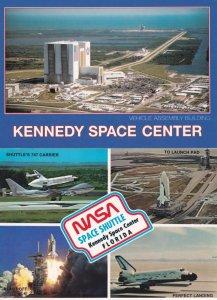 Lift Off at Nasa Space Shuttle Perfect Landing 2x Florida Rocket Postcard s