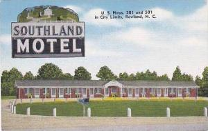 North Carolina Rowland Southland Motel