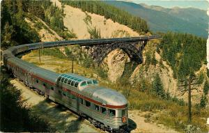 Canadian Pacific Dome Streamliner Canadian Rockies CA Postcard