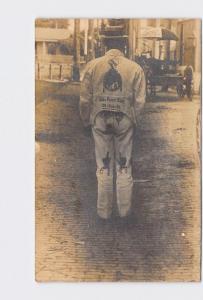 RPPC REAL PHOTO POSTCARD RARE! IDAHO BOISE GLOBE PAINT SHOP SHERWIN WILLIAMS