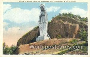 Tadoussac, PQ Canada, du Canada Statue of Notre Dame du Saguenay  Statue of N...