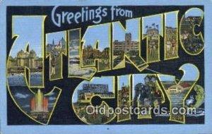 Atlantic City USA Large Letter Town Unused