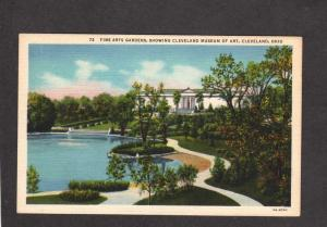 OH Gardens Cleveland Ohio Museum of Fine Arts Postcard