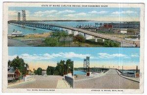 State Of Maine Carlton Bridge Over Kennebec River