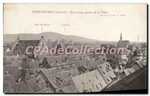 Postcard Old Schlestadt OF A Part View Of The City