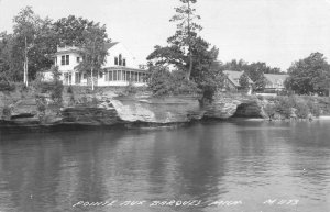 Pointe aux Barques Michigan Water Front Real Photo Vintage Postcard JF685753