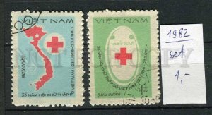 265102 VIETNAM 1982 year used stamps set RED CROSS PROPAGANDA