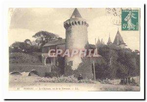 Pornic Old Postcard The castle saw d ela Terrace