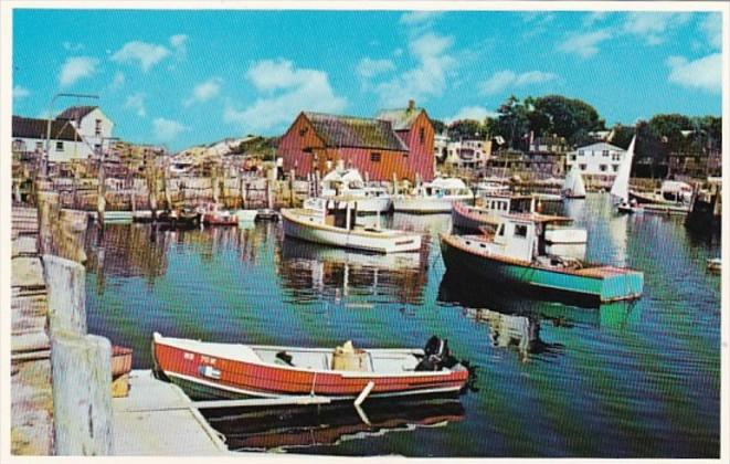 Massachusetts Rockport Harbor & Motif Number One From Bearskin Neck 1980