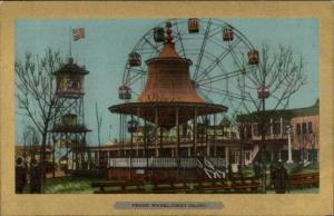 Coney Island NY The Ferris Wheel c1905 Postcard ULLMAN'S GOLD BORDER exc cond