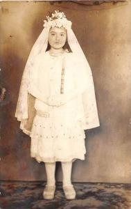 7949 Young Girl  in Communion Dress  RPC