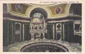 Wisconsin Madison State Capitol Building Rotunda Curteich