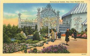 1939 Horticultural Exhibit New York World's Fair Union Teich postcard 1392