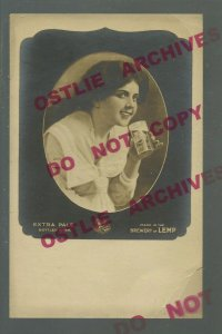 St. Louis MISSOURI RPPC c1910 ADVERTISING Extra Pale Beer LEMP BREWERY Cute GIRL