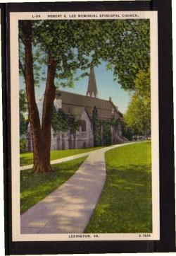 Virginia Postcard Robert E Lee Church Lexington