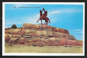 Cody Memorial Buffalo Bill on Horseback Wyoming Unused c1930s