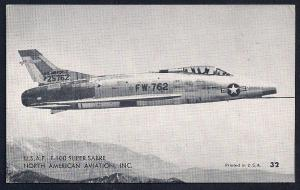 North American F100 Super Sabre Jet unused c1950's