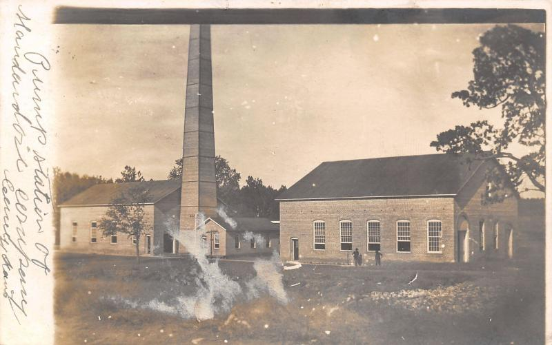 Caney Kansas~Standard Oil Pumping Station~Workers~1906 Real Photo Postcard~RPPC