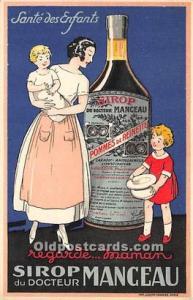 Advertising Postcard - Old Vintage Antique Sirop du Docteur Manceau Unused