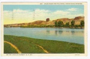 Green River & Palisades, US 30, Green River, Wyoming, PU 1938