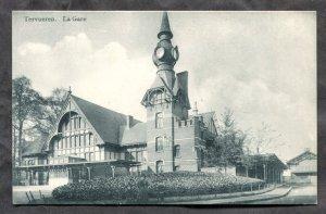 dc1810 - TERVUREN Belgium 1910s La Gare. Train Station. Photo Postcard
