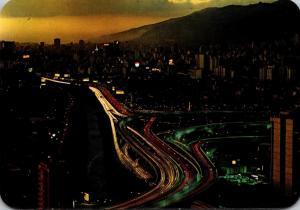 Venezuela Caracas View At Night
