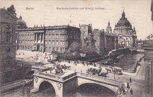 BERLIN, Germany, PU-1909; Kurfurstenbrucke Und Konigl. Schloss