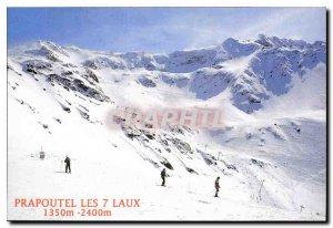 Postcard Modern Prapoutel les 7 Laux Isere Belledonne Dauphine Station summer...