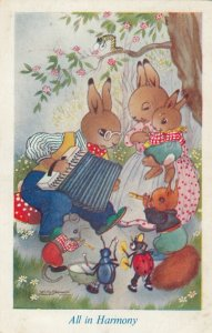 AS; Rabbits & Lady Bugs , 1930-50s